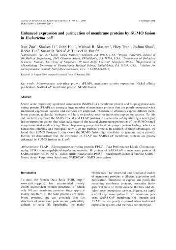 recombinant protein purification handbook