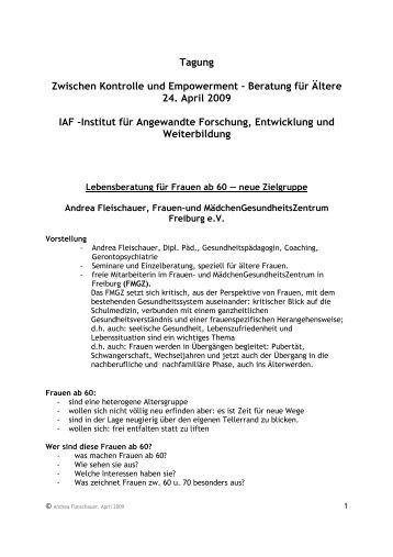 Tagung Zwischen Kontrolle und Empowerment – Beratung für Ältere ...