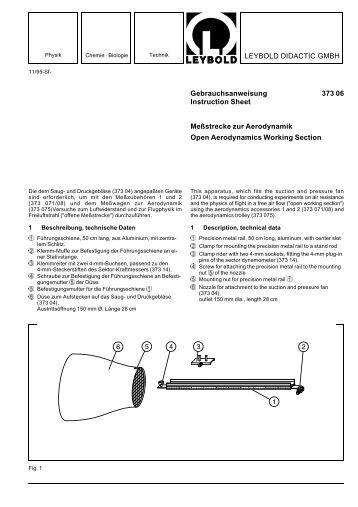 LEYBOLD DIDACTIC GMBH Gebrauchsanweisung 373 06 ...