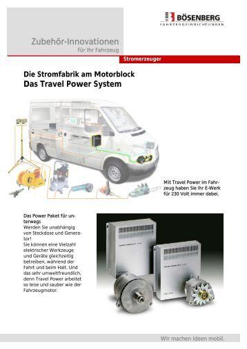 Prospekt Travel Power - Walter Bösenberg GmbH
