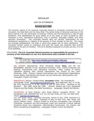 Telegram for List of consuls