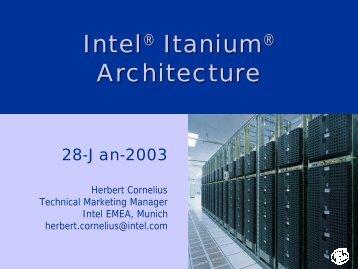 intel architecture software developer s manual: