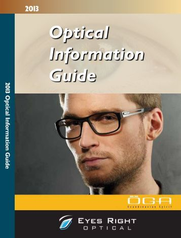 2013 Optical Information Guide - New Zealand Optics