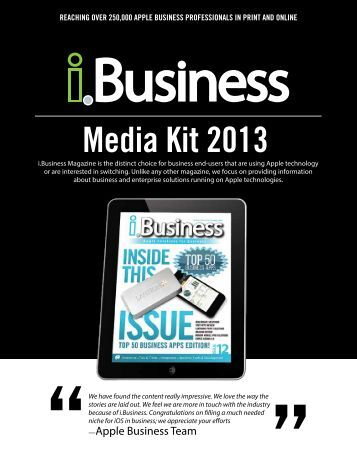 Media Kit 2013 - i.Business Magazine