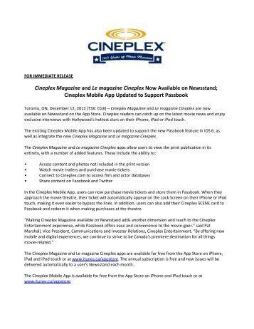 Cineplex Magazine and Le magazine Cineplex Now ... - Cineplex.com