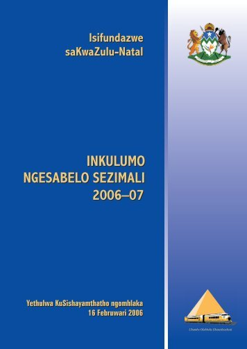 KwaZulu-Natal Budget Speech - 16 February ... - National Treasury