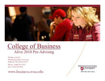 College of Business - Washington State University