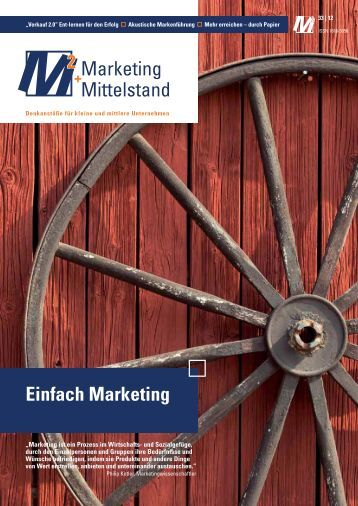 Einfach Marketing - Marketing und Mittelstand