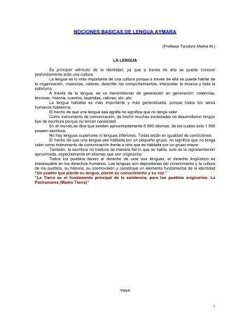 CURSO BASICO DE LENGUA AYMARA