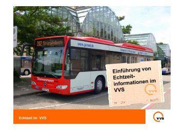 Echtzeit im VVS - Baden-Württemberg