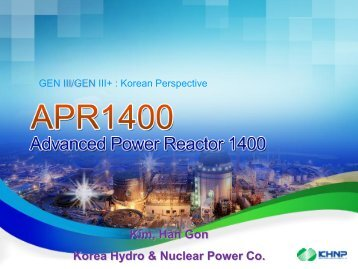 Design Characteristics of APR1400 & OPR1000 - IAEA