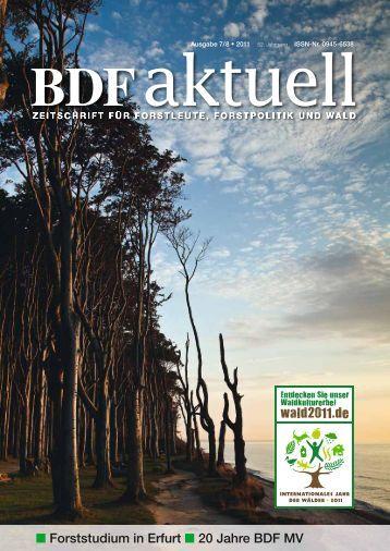 Forststudium in Erfurt 20 Jahre BDF MV