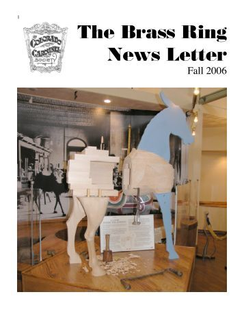 The Brass Ring News Letter - Chase Merry Go Rounds