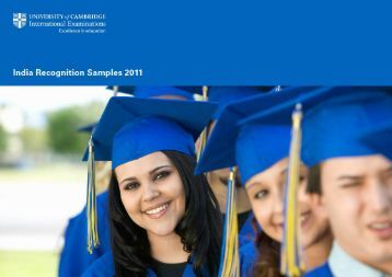 India Recognition Samples - Cambridge International Examinations