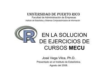 EN LA SOLUCION DE EJERCICIOS DE CURSOS MECU CURSOS ...