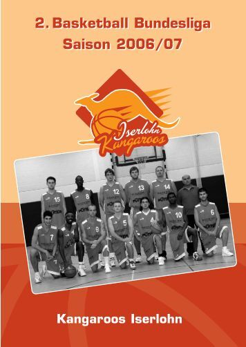 2.Basketball Bundesliga Saison 2006/07 2.Basketball Bundesliga ...