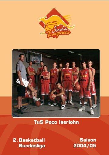 2. Basketball Bundesliga Saison 2004/05 TuS Poco Iserlohn