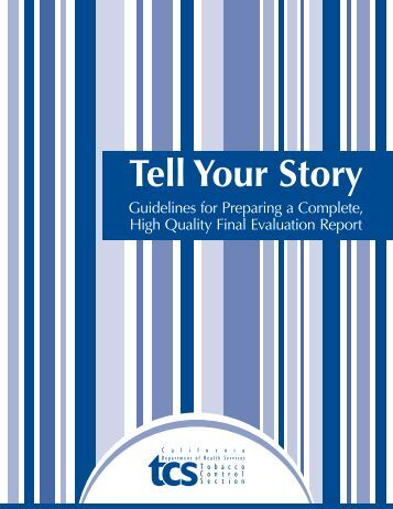 Tell Your Story - California Department of Public Health
