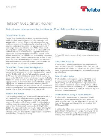 Tellabs 8611 Smart Router