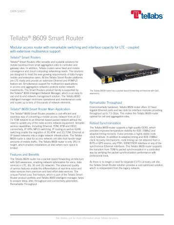 Tellabs 8609 Smart Router