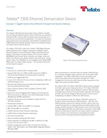 Tellabs 7305 Ethernet Demarcation Device