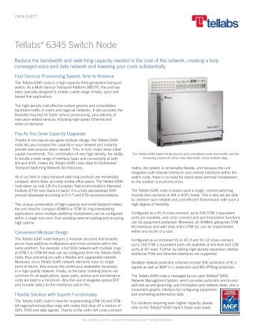 Tellabs 6345 Switch Node