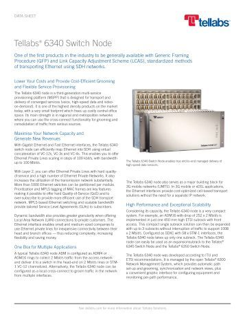 Tellabs 6340 Switch Node