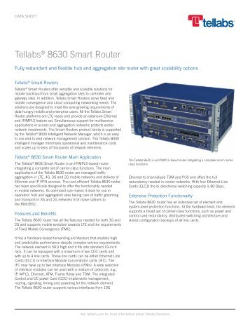 Tellabs 8630 Smart Router