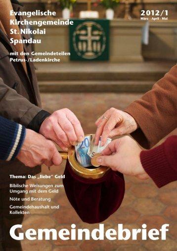 Gemeindebrief 2012 Nr. 1 - Ev. Kirchengemeinde St. Nikolai Berlin ...