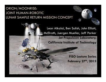 ORION/MOONRISE: JOINT HUMAN-ROBOTIC LUNAR SAMPLE RETURN MISSION CONCEPT