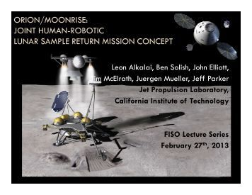 ORION/MOONRISE: JOINT HUMAN-ROBOTIC LUNAR SAMPLE RETURN MISSION CONCEPT