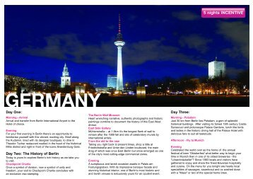 5 night incentive - Berlin & Munich - Ovation Global DMC