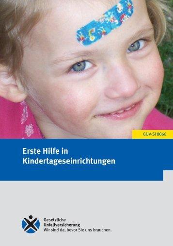 Erste Hilfe in Kindertagesstätten - Deutsche Gesetzliche ...