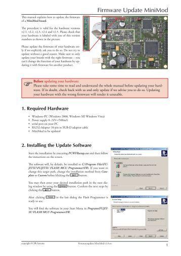 Firmware Update MiniMod - Maintech.de
