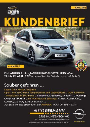 Kundenbrief Frühling 2012 Opel - Auto Germann