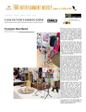 Vancouver Fashion eZine - Online Magazine ... - Portobello West