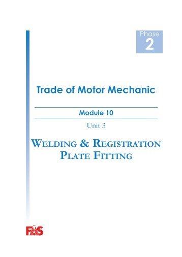 Trade of Motor Mechanic Module 10 - eCollege