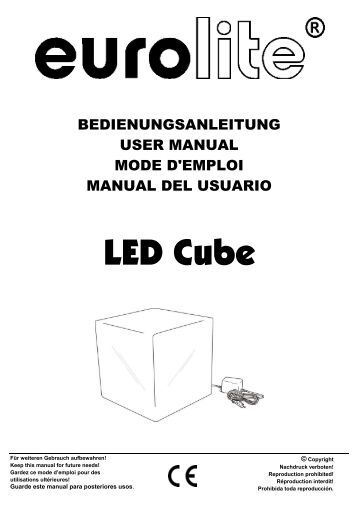 EUROLITE CB-12/50 DMX Controller for LED Ball user manual