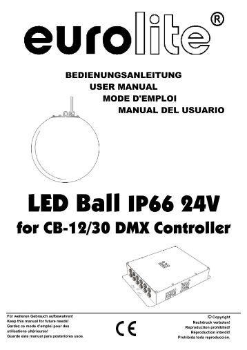 EUROLITE CB-12/50 DMX Controller for LED Ball user manual