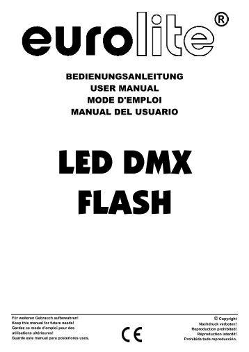 EUROLITE LED Floodlight 252 UV User Manual