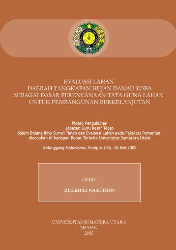 Prof. Ir. Zulkifli Nasution, M.Sc. Ph.D - Universitas Sumatera Utara