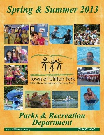 Spring/Summer Rec Booklet - CliftonPark.org