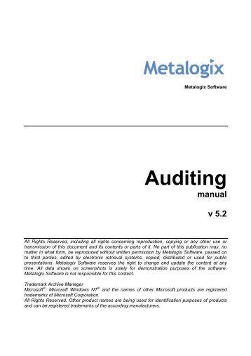 handbook audit config
