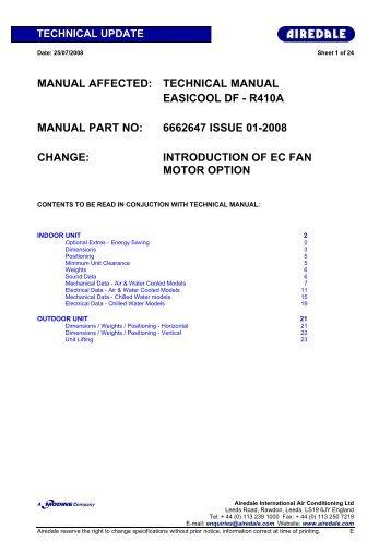 MANUAL AFFECTED: TECHNICAL MANUAL EASICOOL DF ...