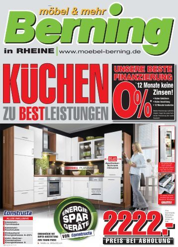 wir brauchen platz f r neue k chen m bel berning. Black Bedroom Furniture Sets. Home Design Ideas