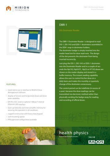 Download DBR-1 Datasheet - Mirion  Technologies