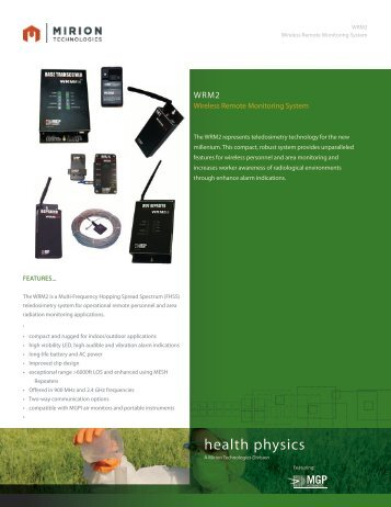 Download WRM2 Datasheet - Mirion  Technologies
