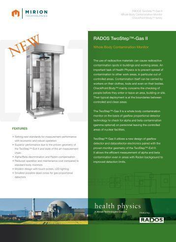 Download TwoStep™-Gas II Datasheet - Mirion  Technologies