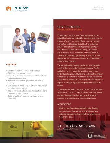 Download Film Dosimeter Datasheet - Mirion  Technologies