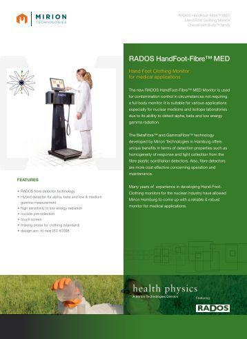 Download HandFoot-Fibre™ MED Datasheet - Mirion  Technologies